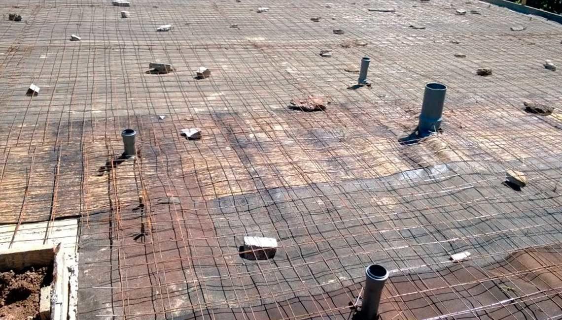 Армирование металлической сеткой