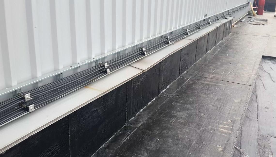 Гидроизоляция примыканий рулонным наплавляемым материалом 1 слой
