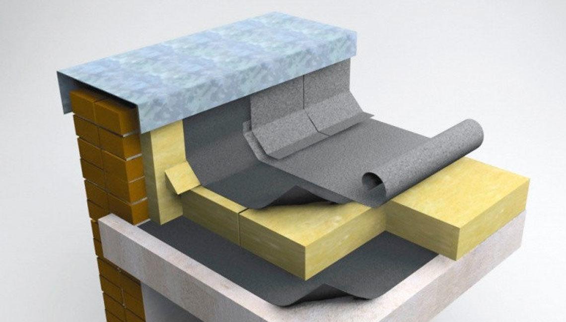 Устройство галтели из минерально-ватной плиты