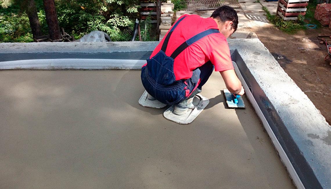 Устройство галтели из цементной смеси