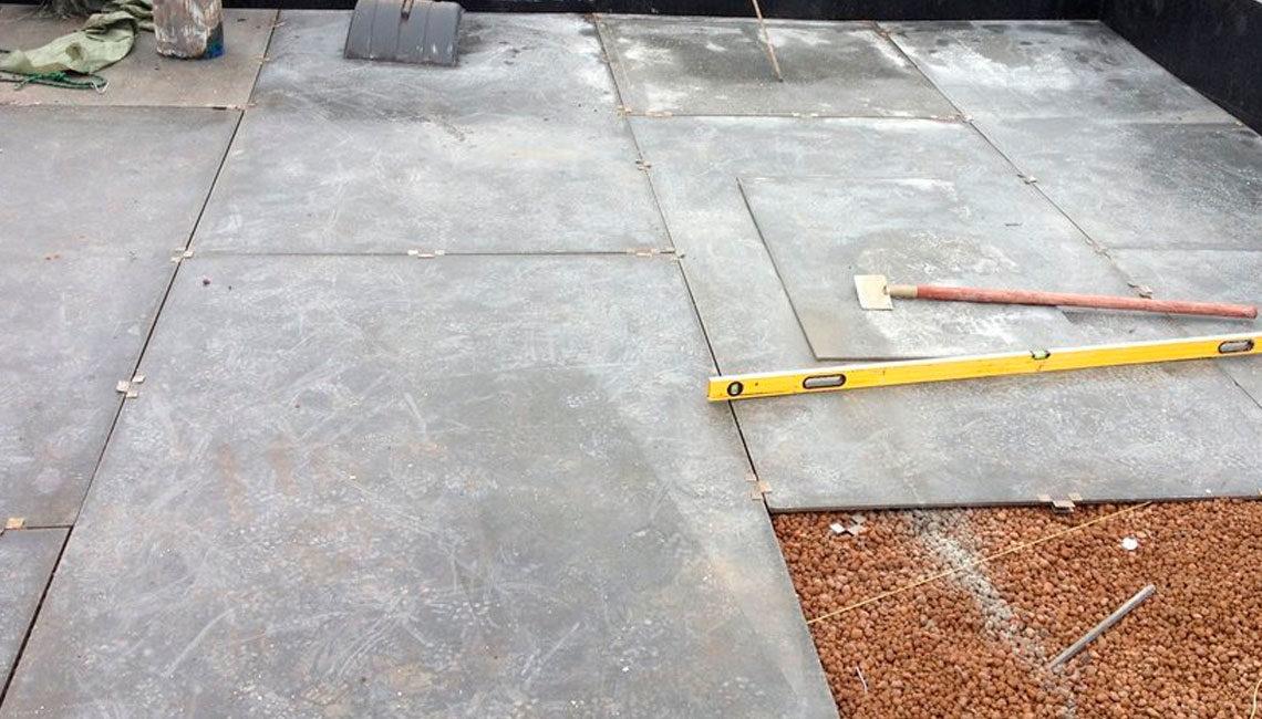 Устройство стяжки из цементно-стружечной плиты в 2 слоя