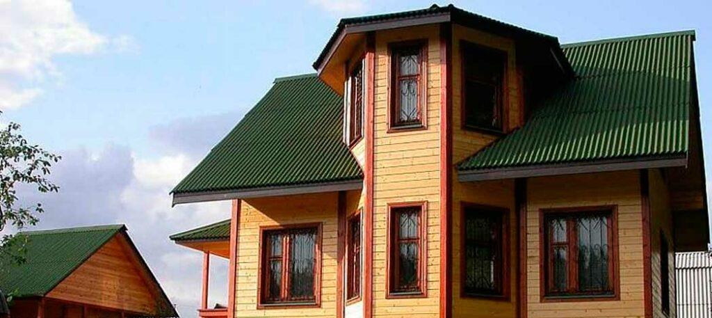 Крыша - еврошифер зеленый